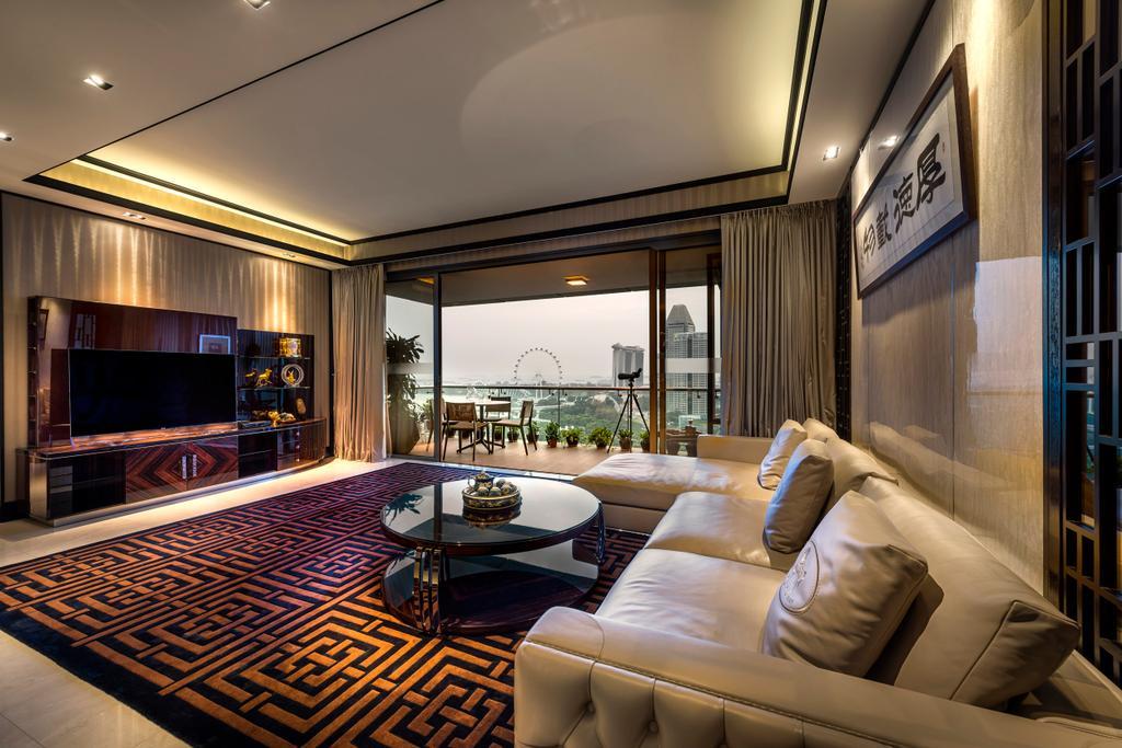 Eclectic, Condo, Living Room, Concourse Skyline, Interior Designer, akiHAUS, Couch, Furniture, Indoors, Interior Design, Corridor