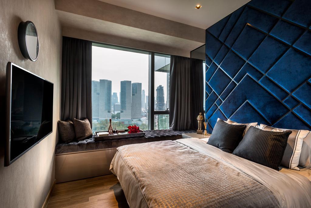 Eclectic, Condo, Bedroom, Concourse Skyline, Interior Designer, akiHAUS, Indoors, Interior Design, Room