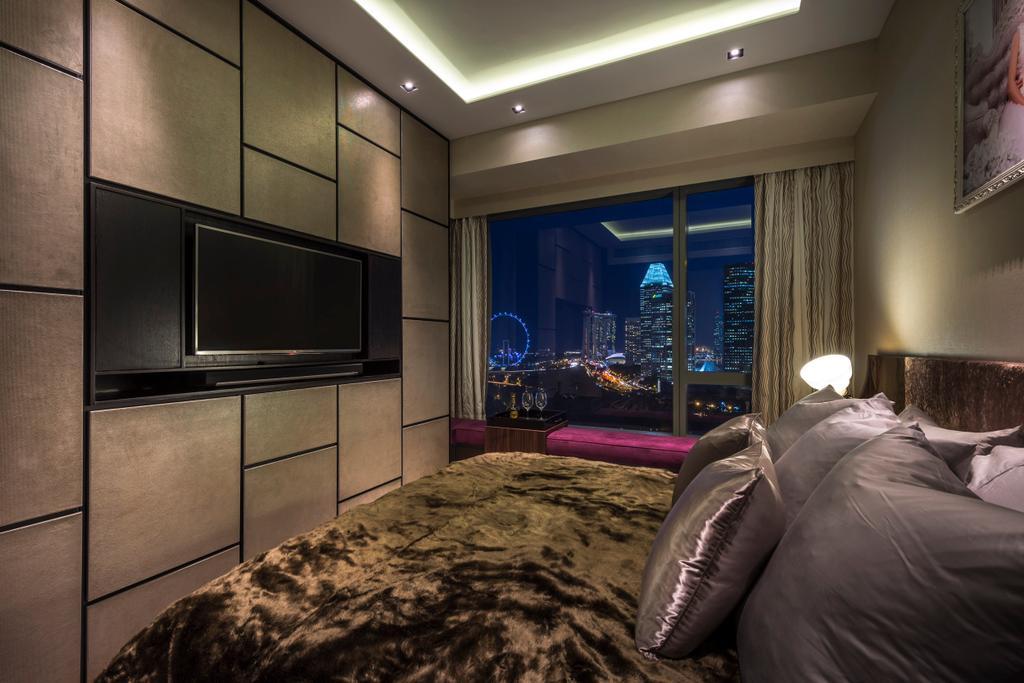 Eclectic, Condo, Bedroom, Concourse Skyline, Interior Designer, akiHAUS, Bed, Furniture