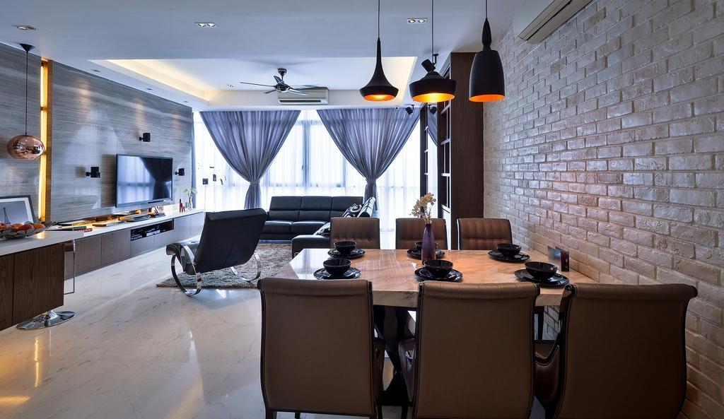 Contemporary, Condo, Dining Room, Damansara Heights, Interior Designer, Surface R Sdn. Bhd., Indoors, Interior Design, Room, Dining Table, Furniture, Table