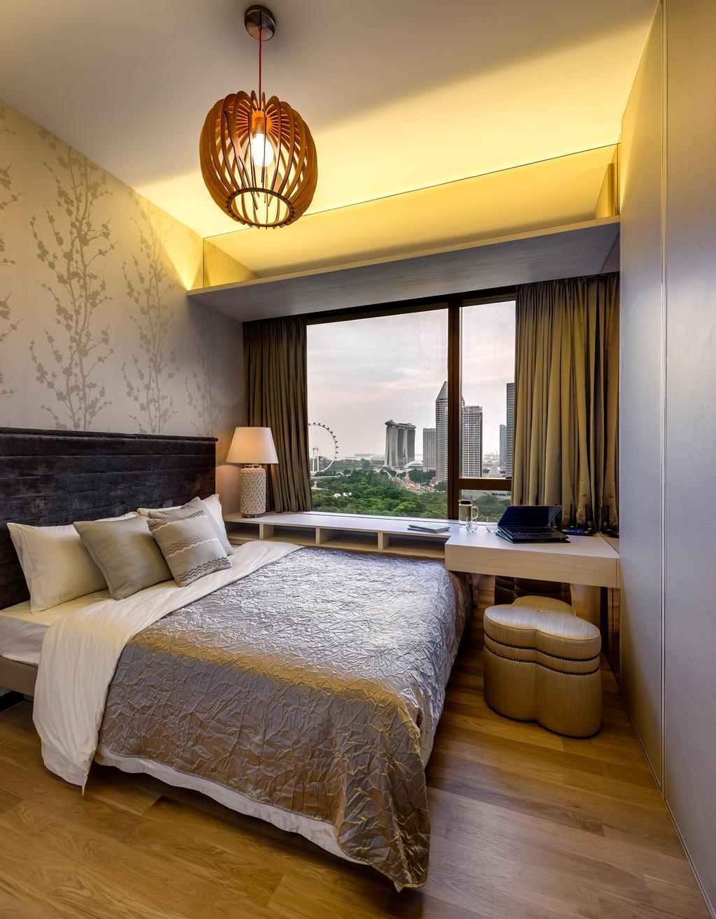 Eclectic, Condo, Bedroom, Concourse Skyline, Interior Designer, akiHAUS, Indoors, Interior Design, Room, Chair, Furniture