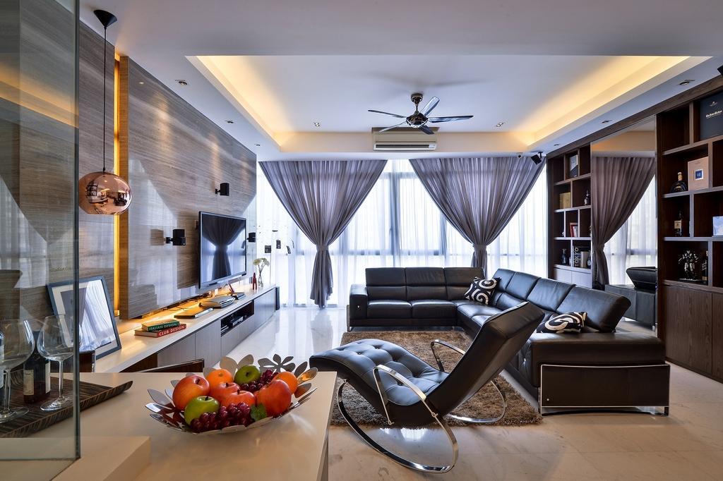 Contemporary, Condo, Living Room, Damansara Heights, Interior Designer, Surface R Sdn. Bhd., Indoors, Interior Design, Glass