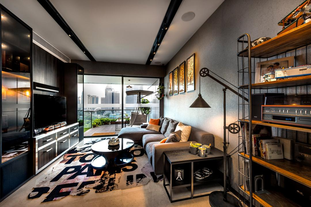 Concourse Skyline, akiHAUS, Eclectic, Living Room, Condo, Boat, Transportation, Vessel, Watercraft, Indoors, Interior Design, Coffee Table, Furniture, Table