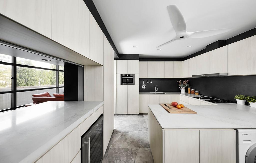 Modern, Condo, Kitchen, River Place, Interior Designer, akiHAUS, Indoors, Interior Design, Room
