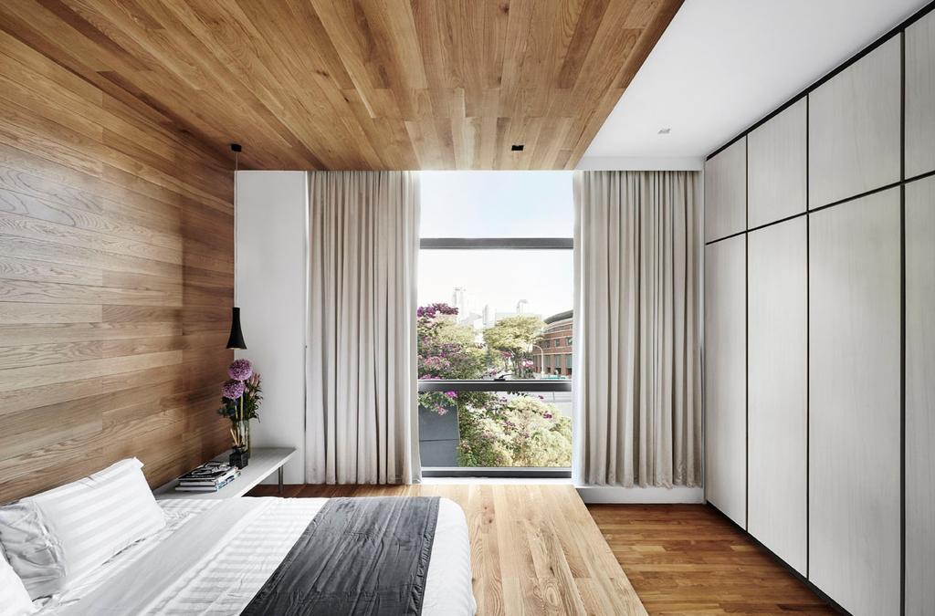 Modern, Condo, Bedroom, River Place, Interior Designer, akiHAUS, Hardwood, Wood