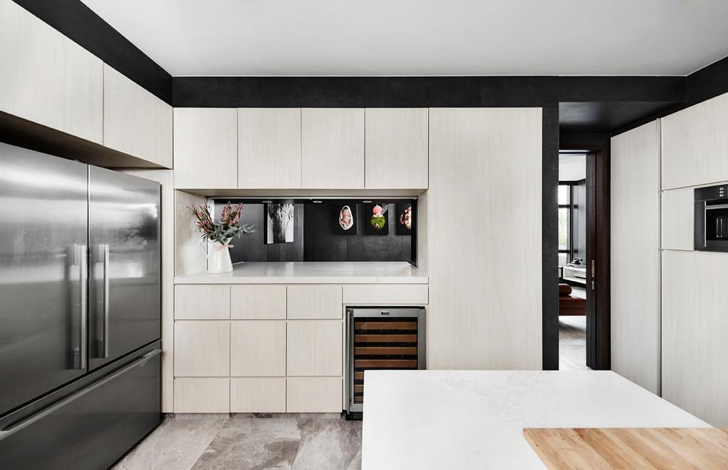 Modern, Condo, Kitchen, River Place, Interior Designer, akiHAUS, HDB, Building, Housing, Indoors, Loft