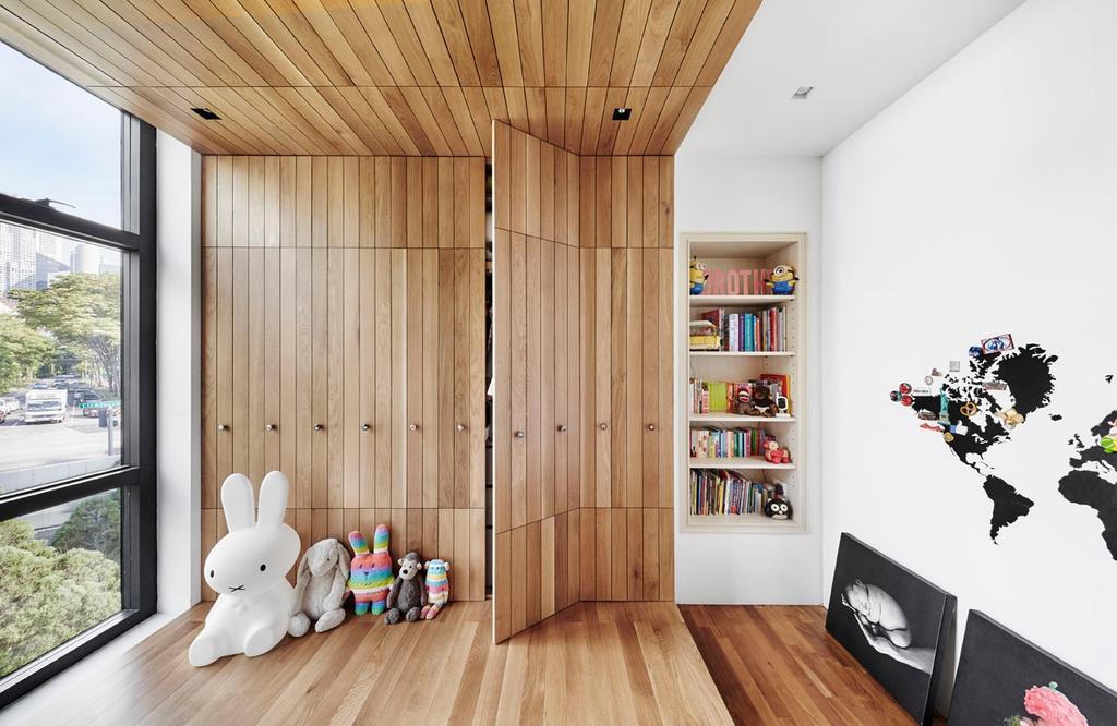 Modern, Condo, Bedroom, River Place, Interior Designer, akiHAUS, Kids Room, Indoors, Interior Design
