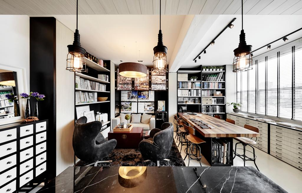 akiHAUS Office, Commercial, Interior Designer, akiHAUS, Eclectic, Couch, Furniture, Chair, Collage, Poster, Dining Room, Indoors, Interior Design, Room