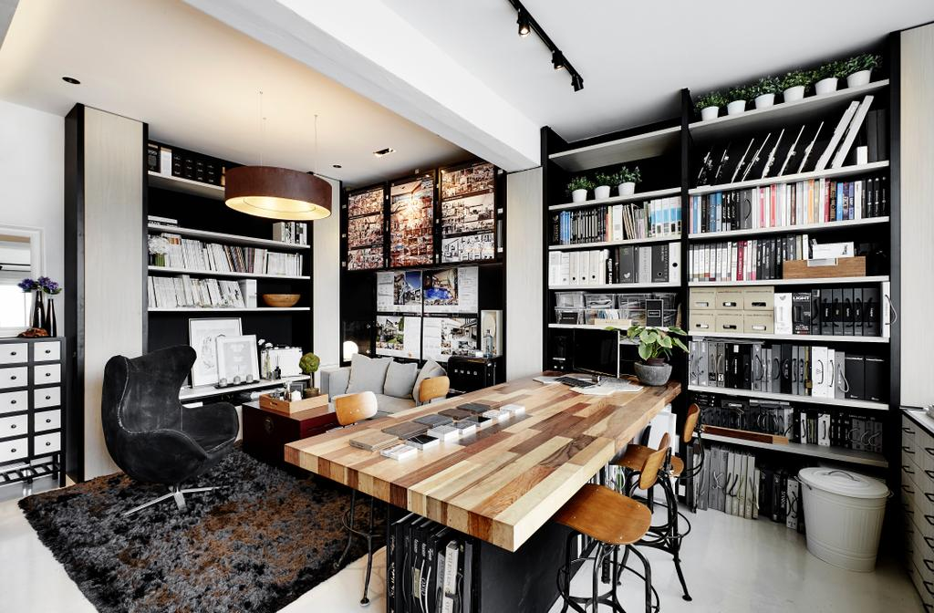 akiHAUS Office, Commercial, Interior Designer, akiHAUS, Eclectic, Chair, Furniture, Bookcase
