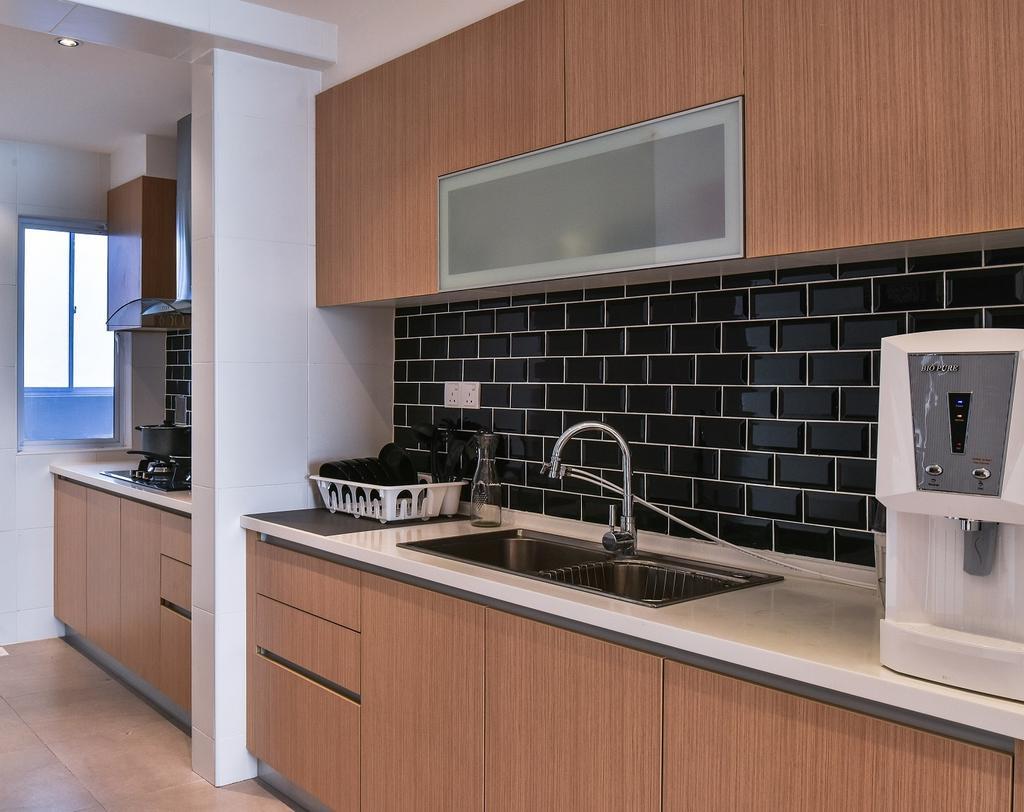 Contemporary, Condo, Kitchen, Segambut, Interior Designer, Surface R Sdn. Bhd., Indoors, Interior Design, Room, Appliance, Electrical Device, Oven