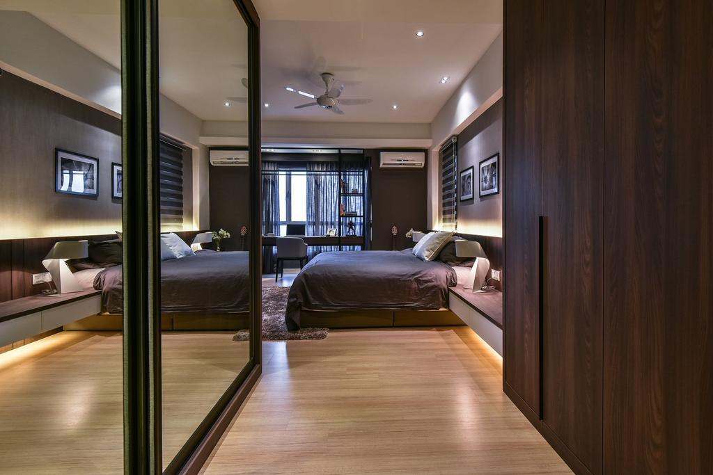 Contemporary, Condo, Bedroom, Segambut, Interior Designer, Surface R Sdn. Bhd., Hardwood, Wood