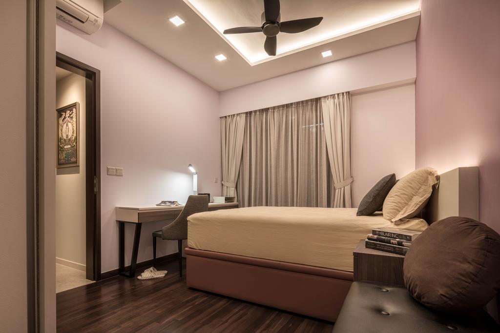 Modern, HDB, Bedroom, Bedok Reservoir, Interior Designer, Zenith Arc, Bed, Furniture, Indoors, Interior Design