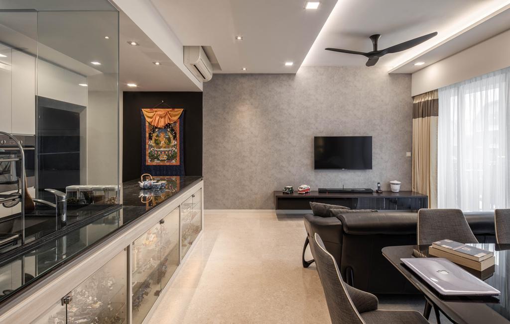 Modern, HDB, Living Room, Bedok Reservoir, Interior Designer, Zenith Arc, Couch, Furniture, Indoors, Interior Design, Room