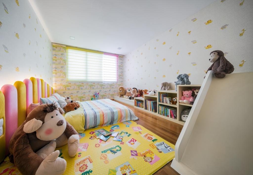 Condo, Bedroom, Greenbank Park, Interior Designer, Zenith Arc, Teddy Bear, Toy, Shelf
