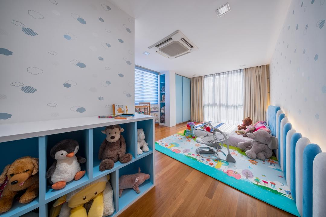 Greenbank Park, Zenith Arc, Bedroom, Condo, Human, People, Person, Asleep, Teddy Bear, Toy, Bed, Furniture, Indoors, Nursery, Room