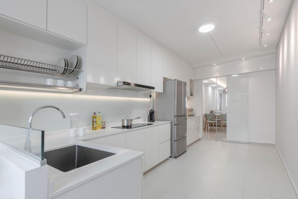 Minimalistic, HDB, Jurong West, Interior Designer, Zenith Arc, Modern, Sink