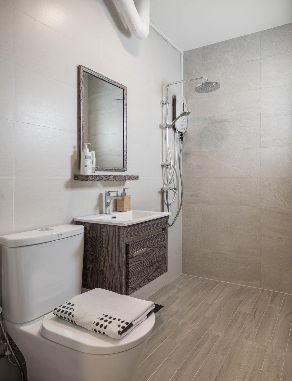 Minimalistic, HDB, Jurong West, Interior Designer, Zenith Arc, Modern, Bathroom, Indoors, Interior Design, Room