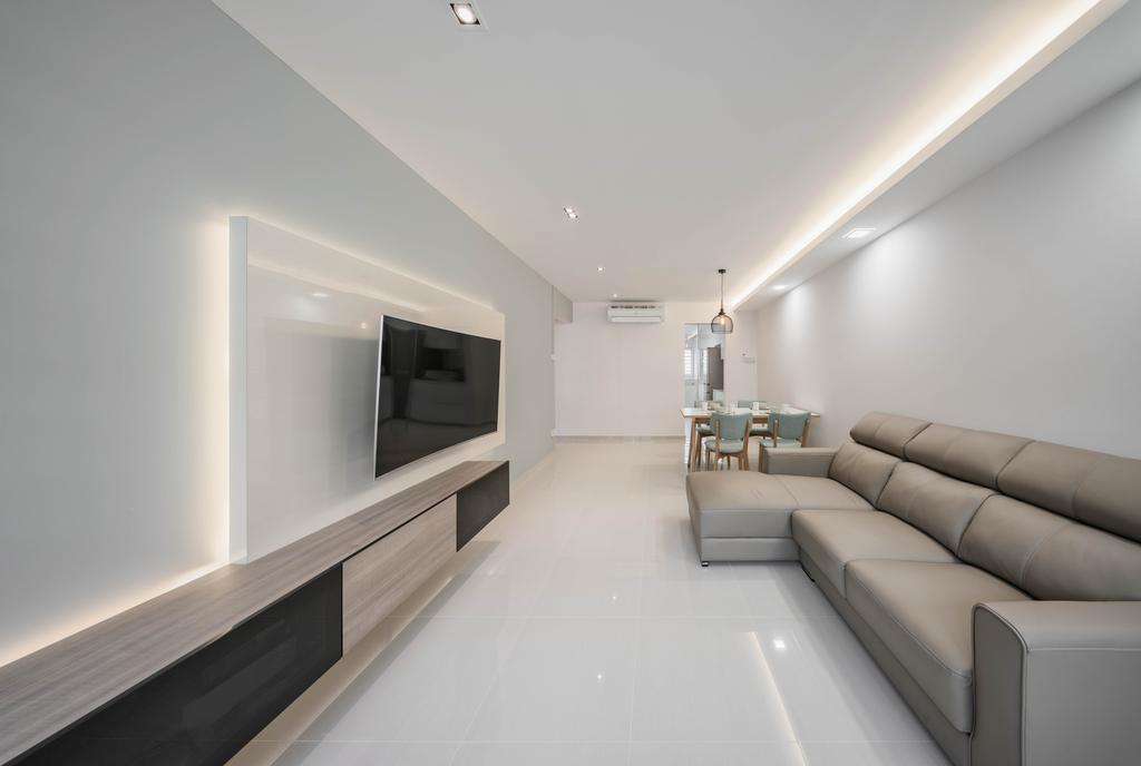 Minimalistic, HDB, Living Room, Jurong West, Interior Designer, Zenith Arc, Modern, Couch, Furniture, Indoors, Interior Design