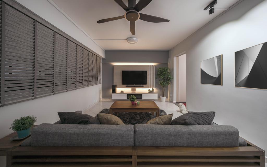 Modern, HDB, Living Room, Petir Road, Interior Designer, Zenith Arc, Couch, Furniture, Indoors, Interior Design