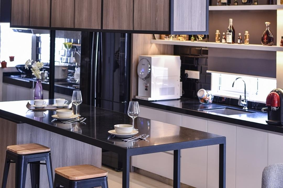 Setia Indah, Surface R Sdn. Bhd., Contemporary, Kitchen, Landed, Appliance, Electrical Device, Oven, Microwave, Furniture, Tabletop, Dining Table, Table