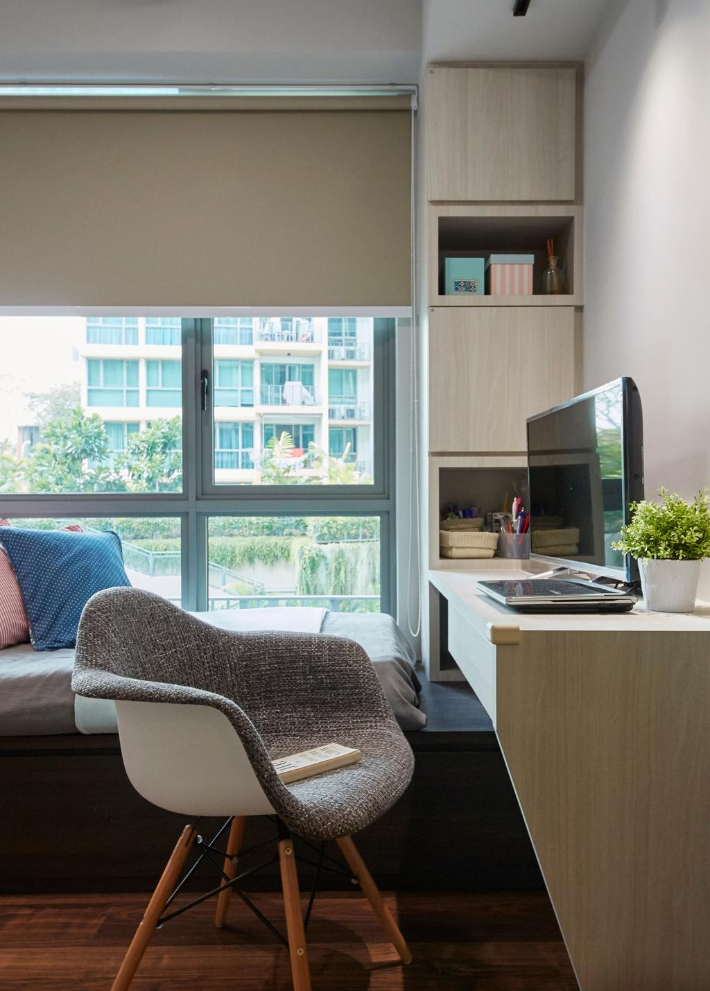 Modern, Condo, Bedroom, The Glades, Interior Designer, Carpenters 匠, Chair, Furniture, Appliance, Electrical Device, Oven, Flora, Jar, Plant, Potted Plant, Pottery, Vase