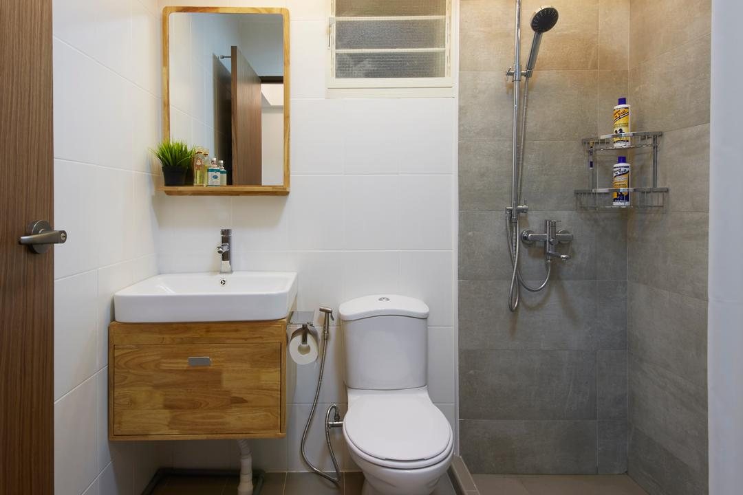 Bukit Batok Street 22, Carpenters 匠, Scandinavian, Bathroom, HDB, Indoors, Interior Design, Room, Plumbing, Toilet