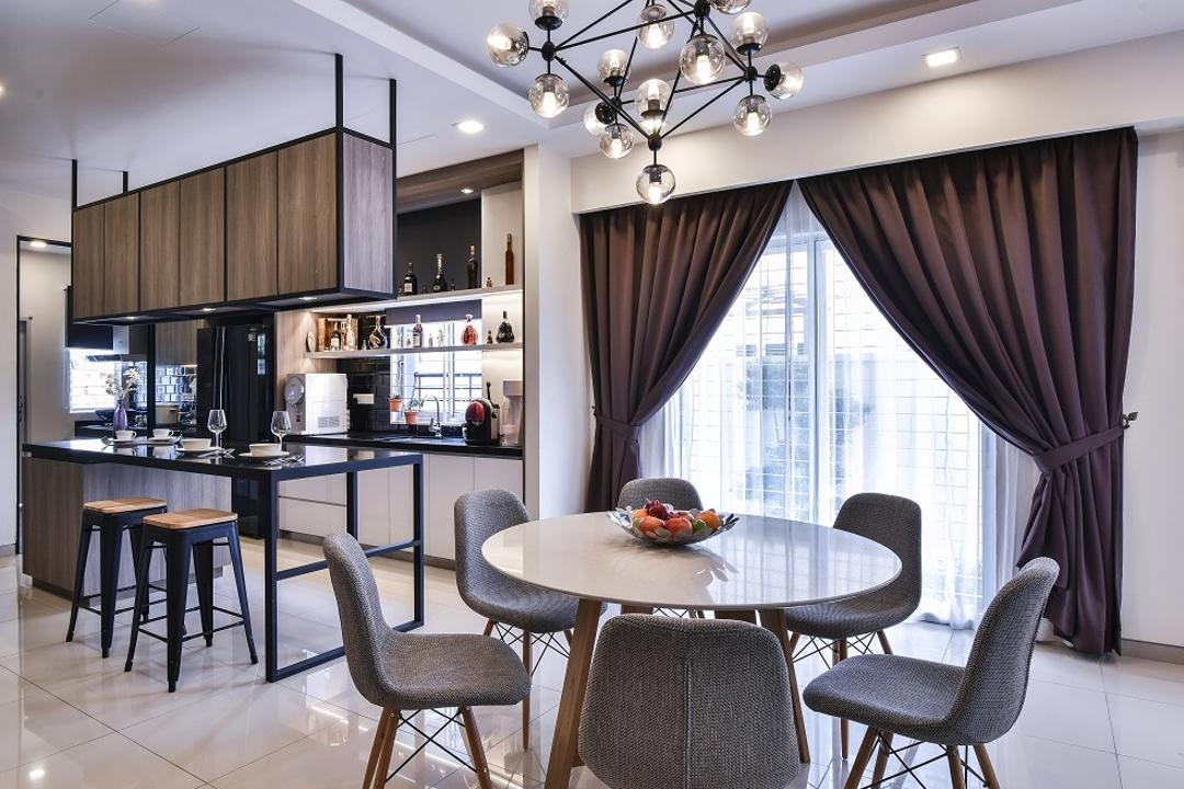 Setia Indah, Surface R Sdn. Bhd., Contemporary, Dining Room, Landed, Chair, Furniture, Dining Table, Table, Indoors, Interior Design, Room, Cushion, Headrest, Home Decor
