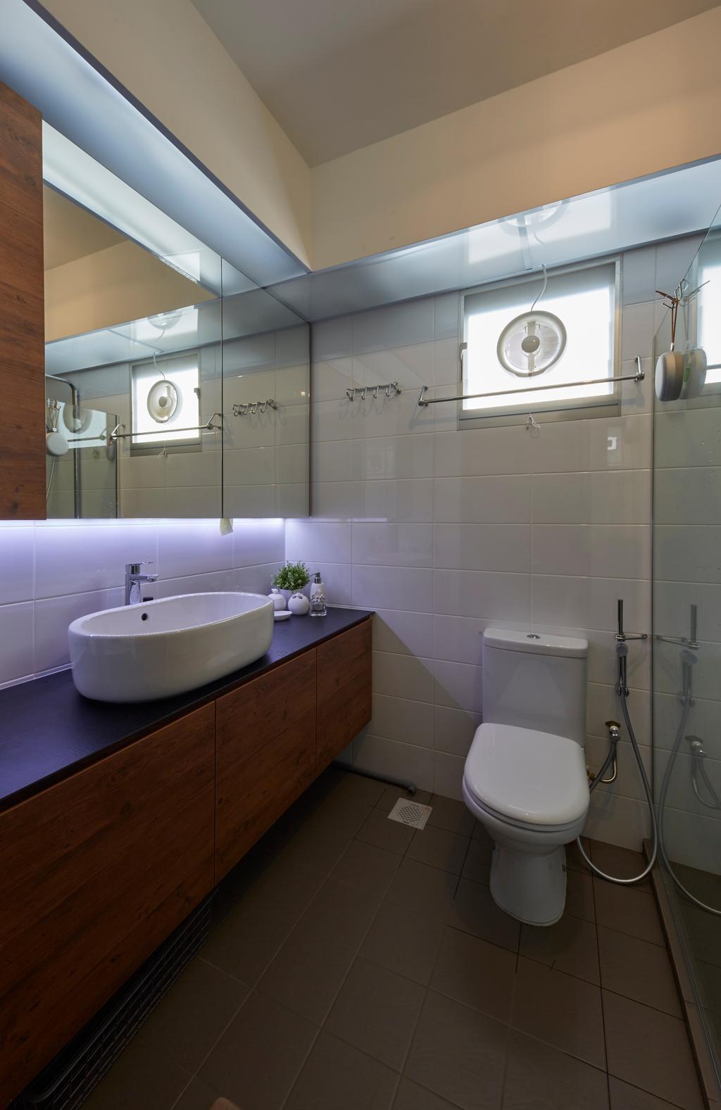 Contemporary, HDB, Boon Lay Avenue, Interior Designer, Carpenters 匠, Retro, Toilet, Bathroom, Indoors, Interior Design, Room