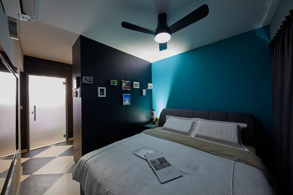Contemporary, HDB, Bedroom, Boon Lay Avenue, Interior Designer, Carpenters 匠, Retro, Corridor, Lighting, Indoors, Room