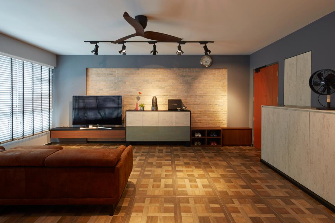 Boon Lay Avenue, Carpenters 匠, Contemporary, Retro, Living Room, HDB, Aircraft, Airplane, Transportation, Couch, Furniture, Flooring