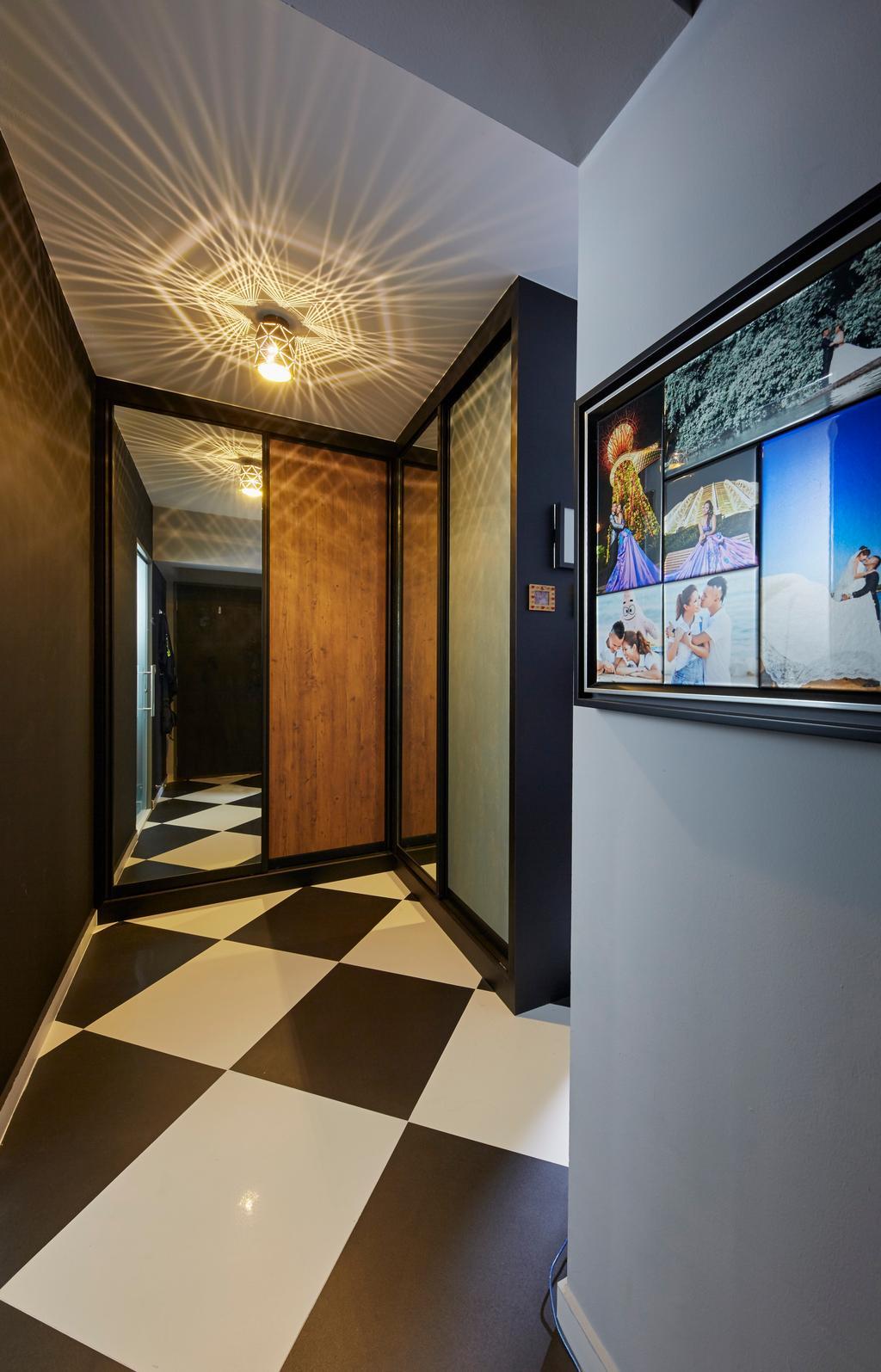 Contemporary, HDB, Kitchen, Boon Lay Avenue, Interior Designer, Carpenters 匠, Retro, Shop, Window Display, Corridor