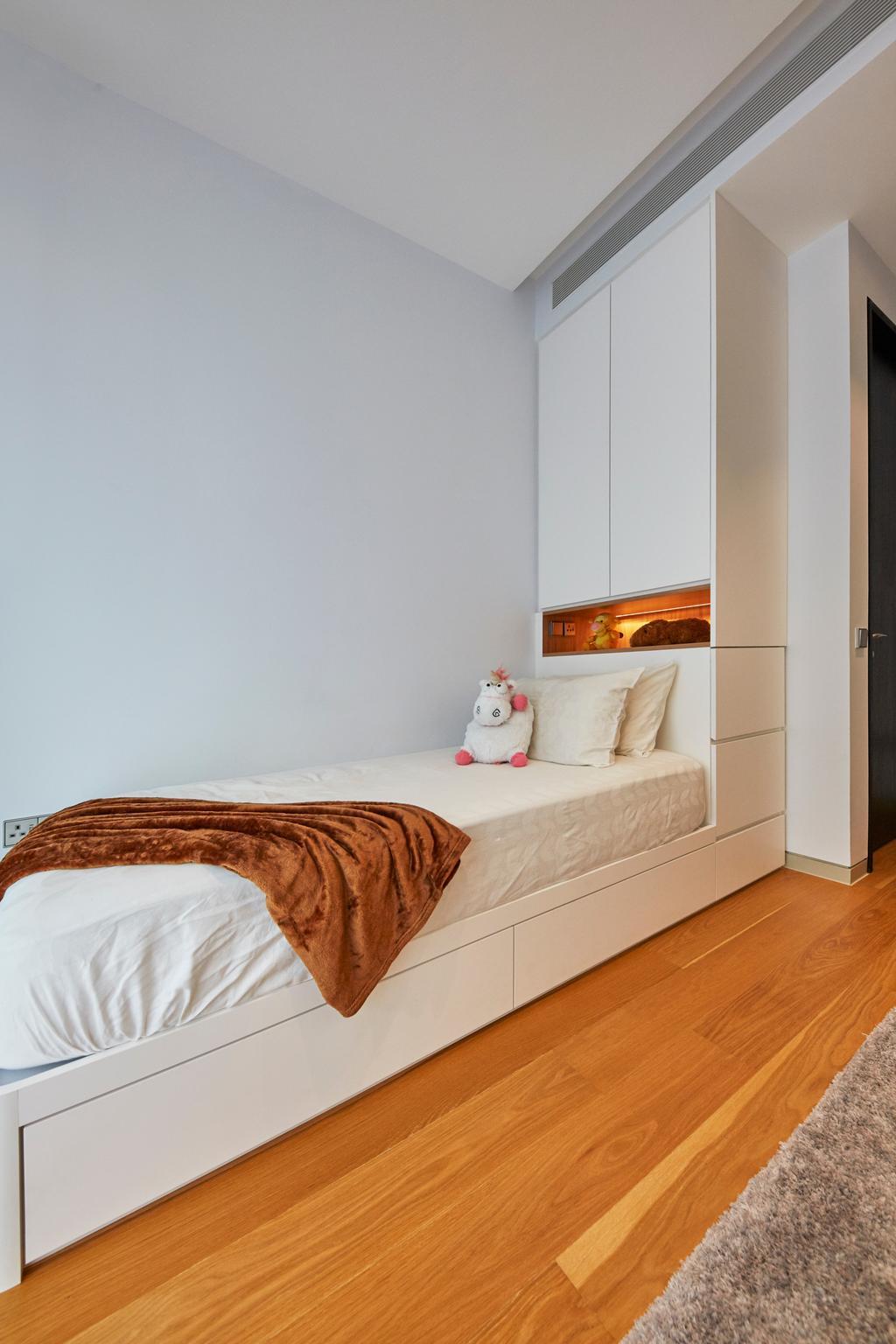 Contemporary, Condo, Bedroom, Corals at Keppel Bay, Interior Designer, Carpenters 匠, Bed, Furniture, Indoors, Interior Design, Room