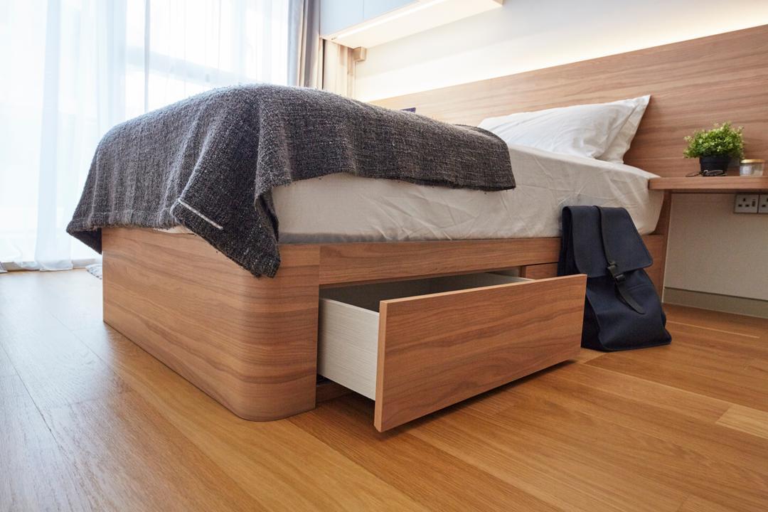 Corals at Keppel Bay, Carpenters 匠, Contemporary, Bedroom, Condo, Hardwood, Wood