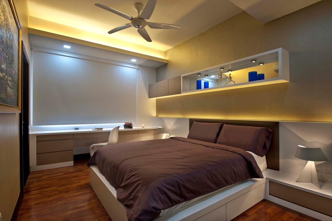 Aman Sari, Surface R Sdn. Bhd., Traditional, Bedroom, Landed, Bed, Furniture, Arch, Arched, Architecture, Building, Vault Ceiling