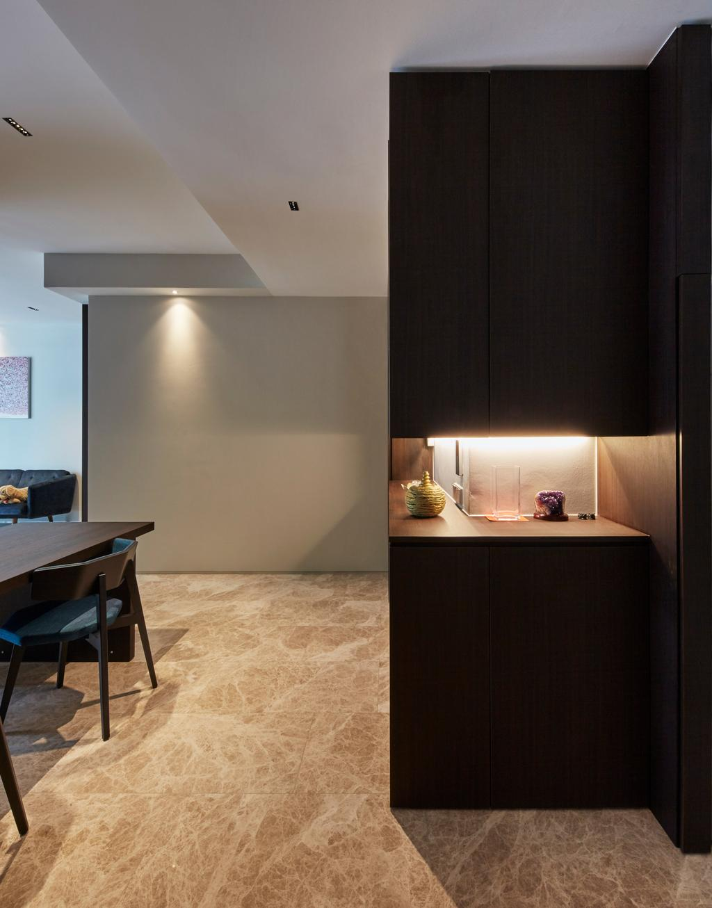 Contemporary, Condo, Living Room, Corals at Keppel Bay, Interior Designer, Carpenters 匠, Chair, Furniture, HDB, Building, Housing, Indoors