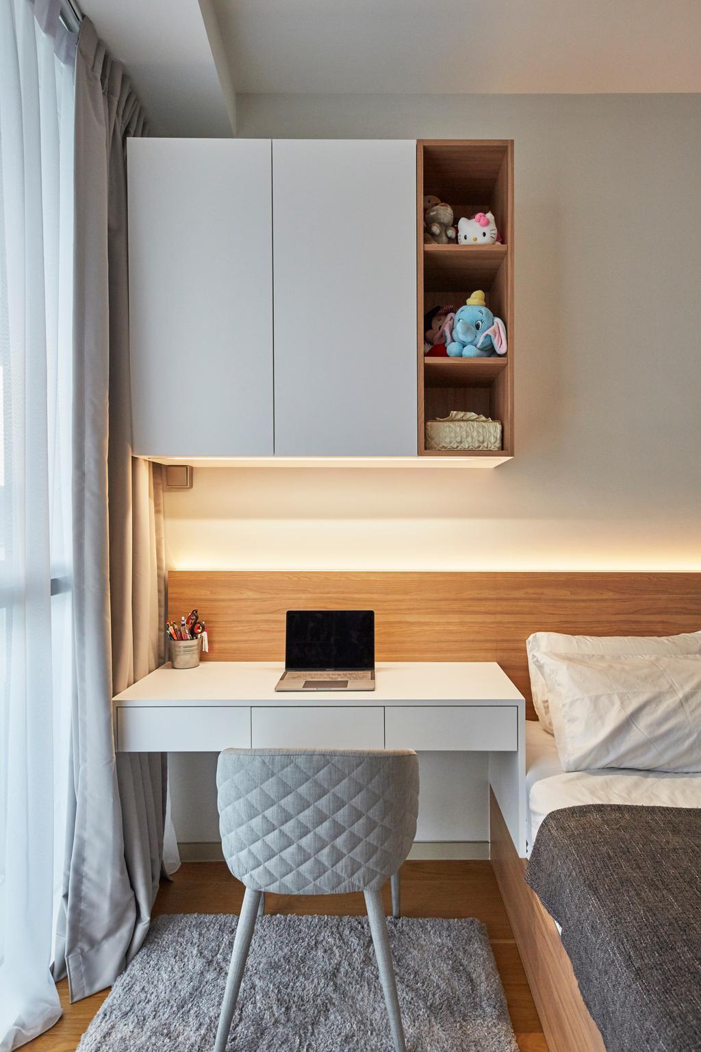 Contemporary, Condo, Bedroom, Corals at Keppel Bay, Interior Designer, Carpenters 匠, Shelf