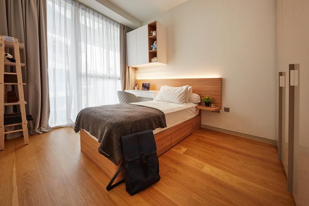 Contemporary, Condo, Bedroom, Corals at Keppel Bay, Interior Designer, Carpenters 匠