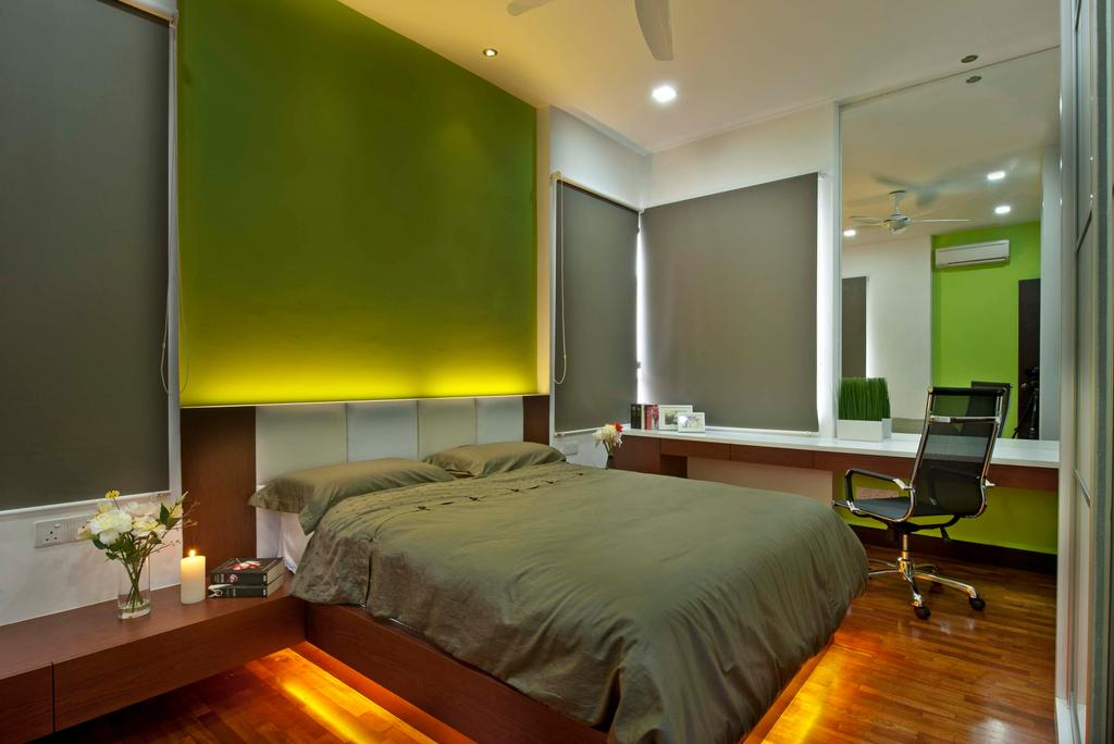 Traditional, Landed, Bedroom, Aman Sari, Interior Designer, Surface R Sdn. Bhd., Couch, Furniture, Indoors, Interior Design, Room