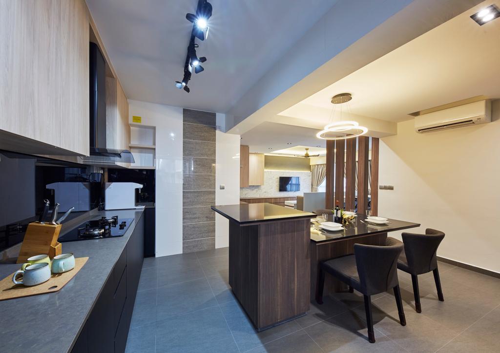 Modern, HDB, Dining Room, Woodlands Rise, Interior Designer, Carpenters 匠, Chair, Furniture, Dining Table, Table, Indoors, Interior Design, Room