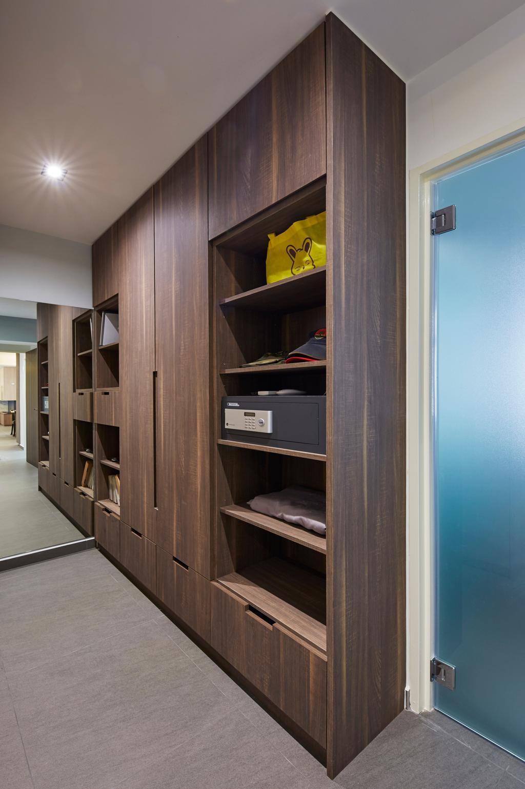 Modern, HDB, Woodlands Rise, Interior Designer, Carpenters 匠, Shelf