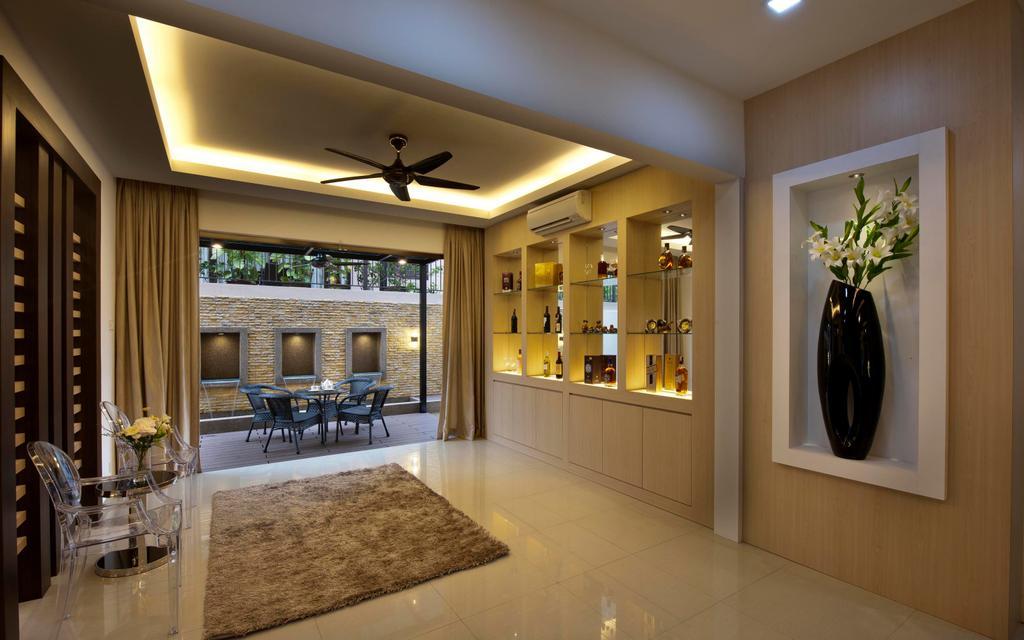 Traditional, Landed, Living Room, Aman Sari, Interior Designer, Surface R Sdn. Bhd., Lighting, Flooring, Indoors, Interior Design