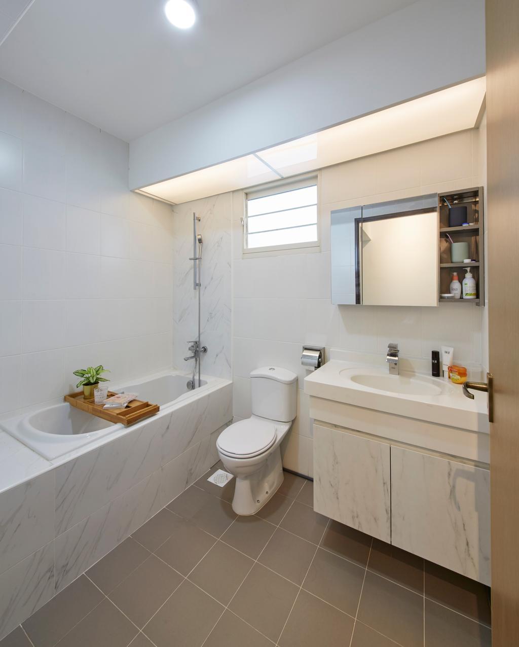 Scandinavian, HDB, Bathroom, Bukit Batok Street 22, Interior Designer, Carpenters 匠, Toilet, Indoors, Interior Design, Room