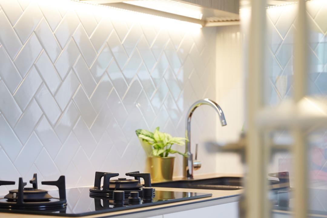 Bukit Batok Street 22, Carpenters 匠, Scandinavian, Kitchen, HDB, Indoors, Interior Design, Art, Blossom, Flora, Flower, Flower Arrangement, Ikebana, Jar, Ornament, Plant, Pottery, Vase