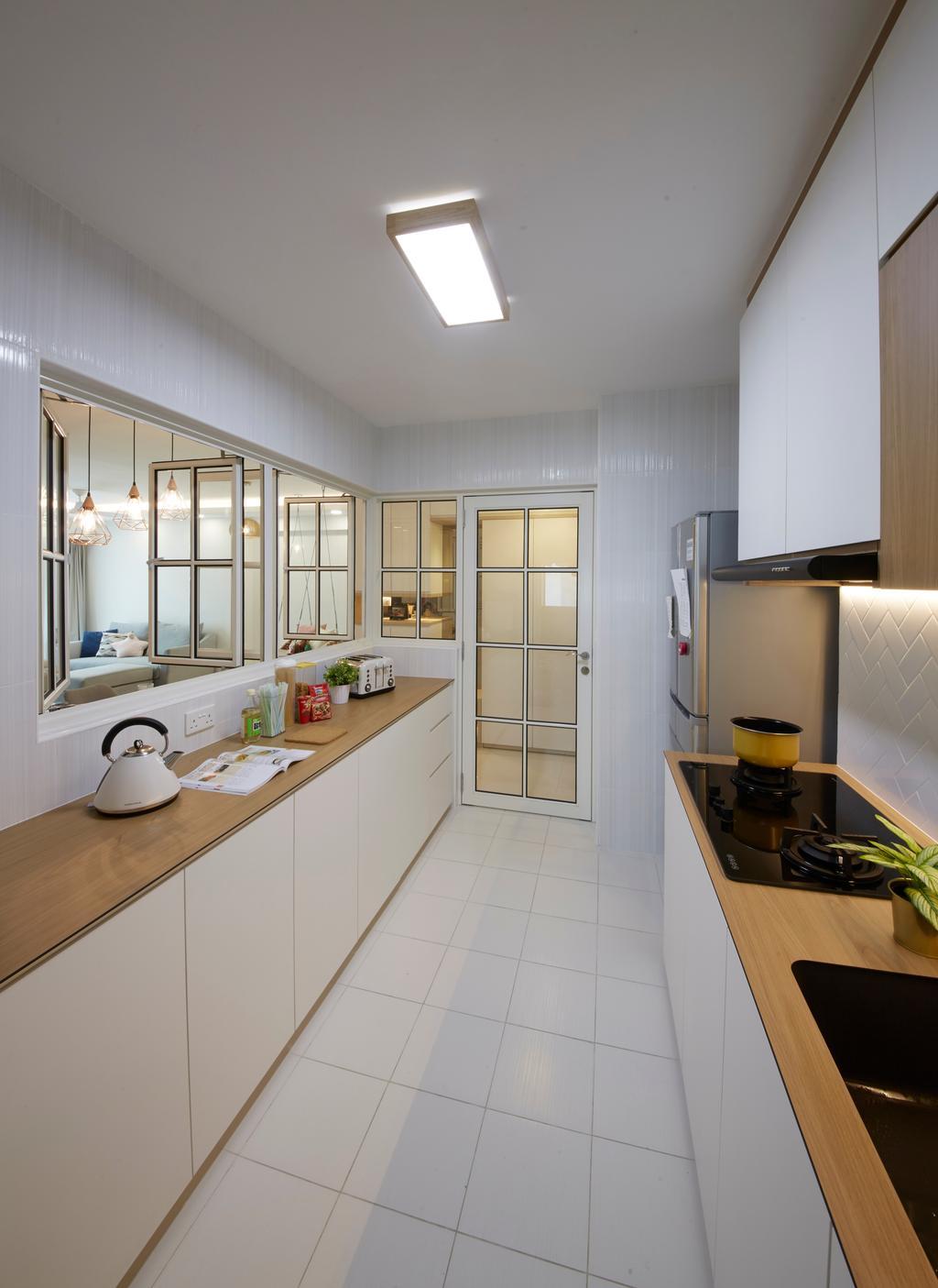 Scandinavian, HDB, Kitchen, Bukit Batok Street 22, Interior Designer, Carpenters 匠, Indoors, Interior Design, Appliance, Electrical Device, Oven