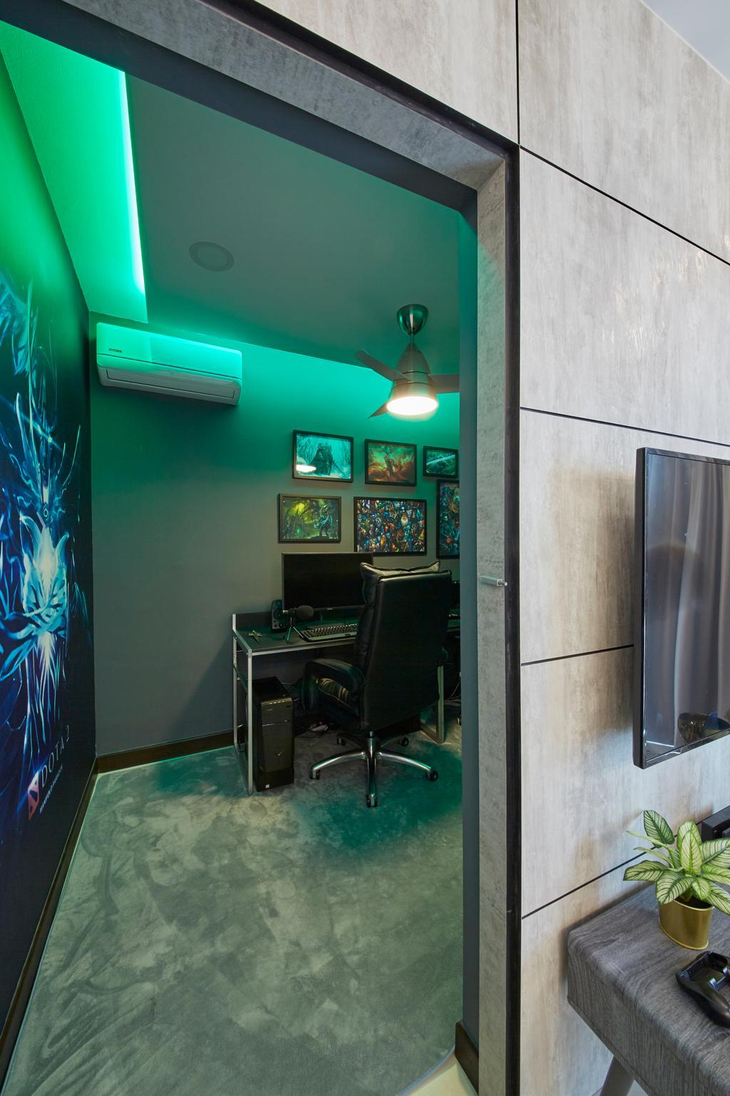 Scandinavian, HDB, Bukit Batok Street 22, Interior Designer, Carpenters 匠, Chair, Furniture, Electronics, Monitor, Screen, Tv, Television