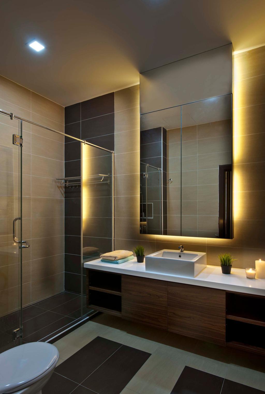 Traditional, Landed, Bathroom, Aman Sari, Interior Designer, Surface R Sdn. Bhd., Indoors, Interior Design, Room