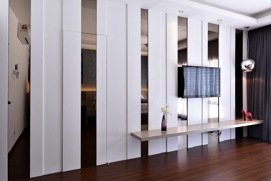 Wangsa Melawati, Surface R Sdn. Bhd., Contemporary, Bedroom, Landed, Curtain, Home Decor, Window, Window Shade, Dining Table, Furniture, Table, Flooring