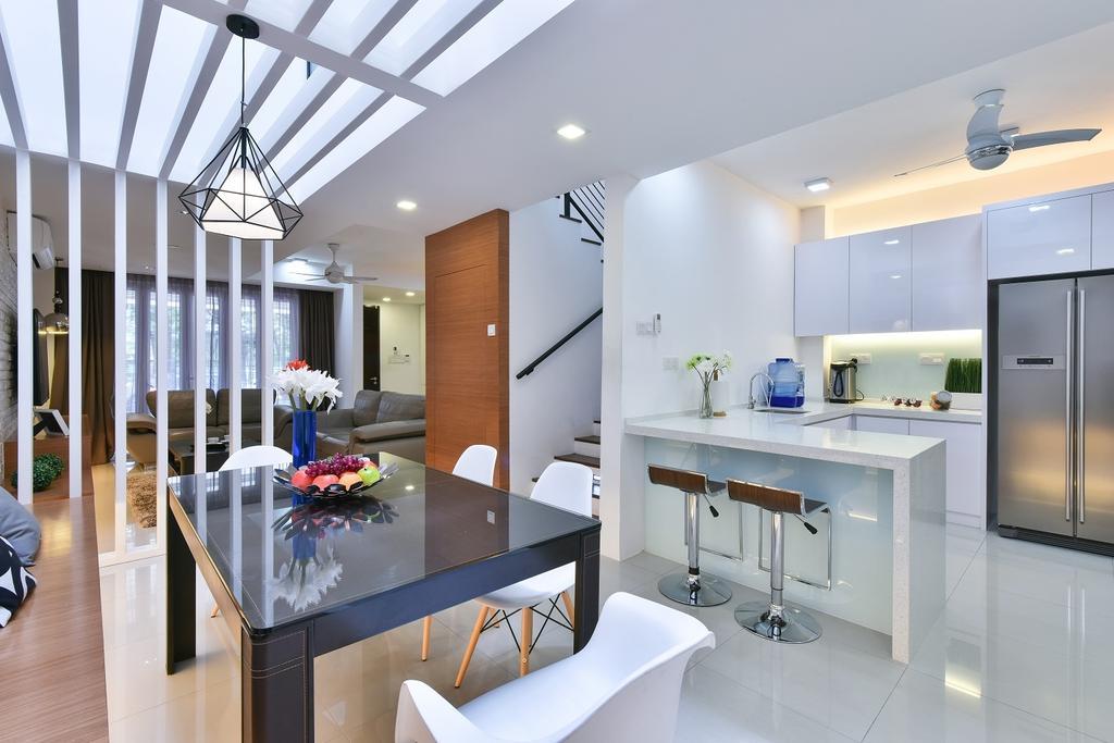 Contemporary, Landed, Dining Room, Wangsa Melawati, Interior Designer, Surface R Sdn. Bhd., Cake, Dessert, Food, Dining Table, Furniture, Table