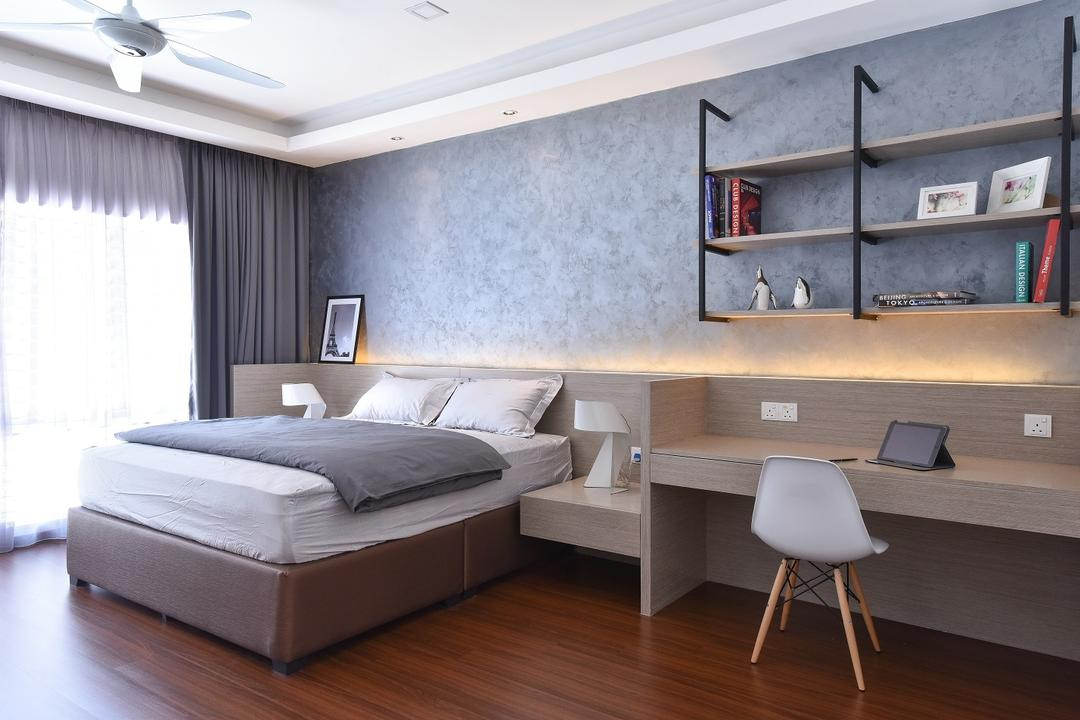 Wangsa Melawati, Surface R Sdn. Bhd., Contemporary, Bedroom, Landed, Chair, Furniture, Bed, Computer, Electronics, Laptop, Pc, Indoors, Interior Design