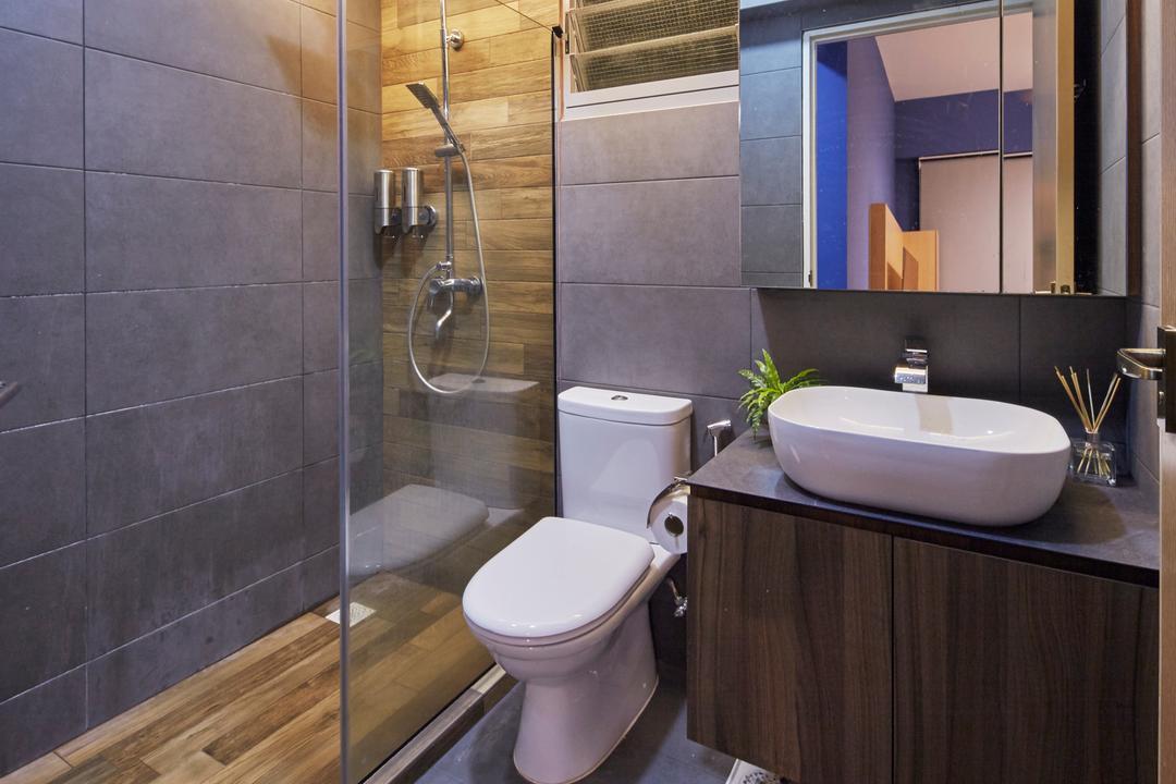 Edgedale Plains, Carpenters 匠, Contemporary, Bathroom, HDB, Toilet, Plumbing, Indoors, Interior Design, Room